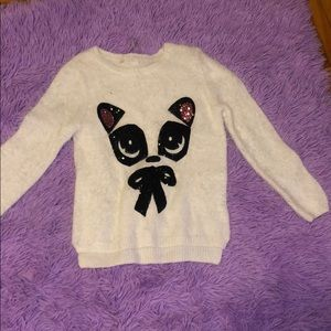 White h&m panda sweater